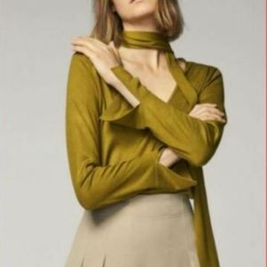 Massimo dutti long sleeve blouse neck tie large